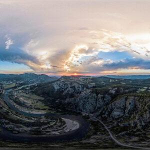 Arda Madzharovo Sunset Drone Bulgaria 4/7